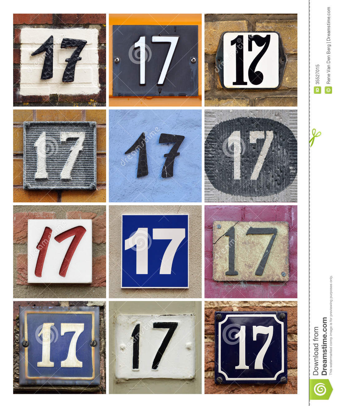 Numbers 17 Stock Image Image Of Icon Address Font