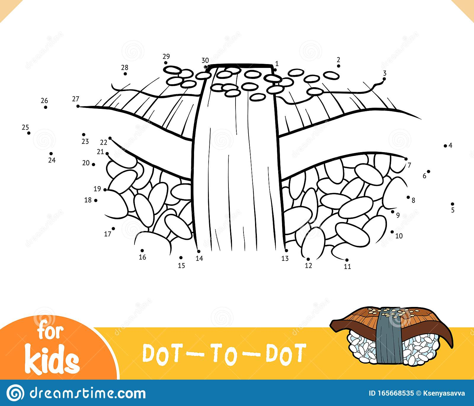 Numbers Game Education Game For Children Eel Nigiri