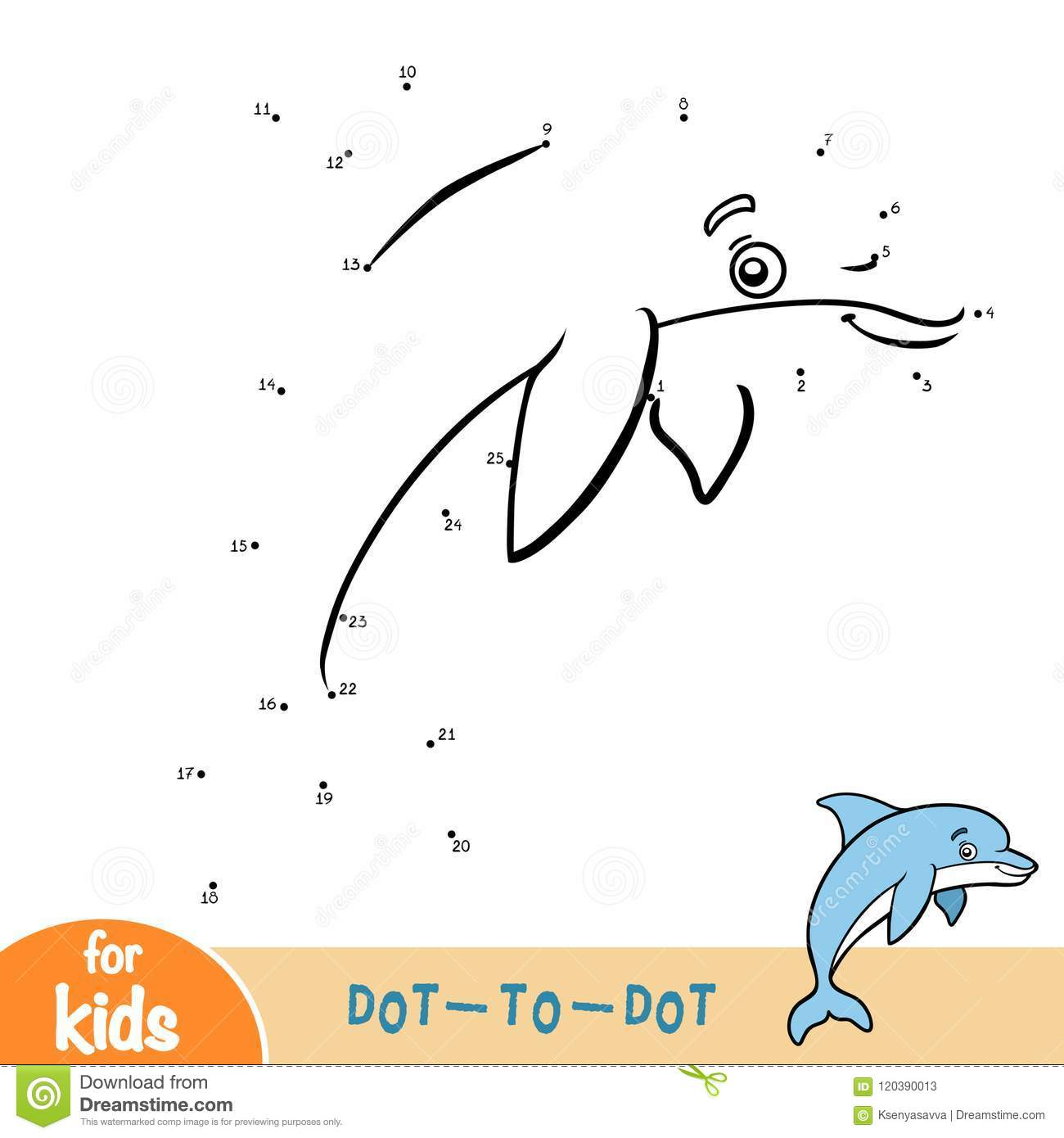 Numbers Game Education Game For Children Dolphin Stock