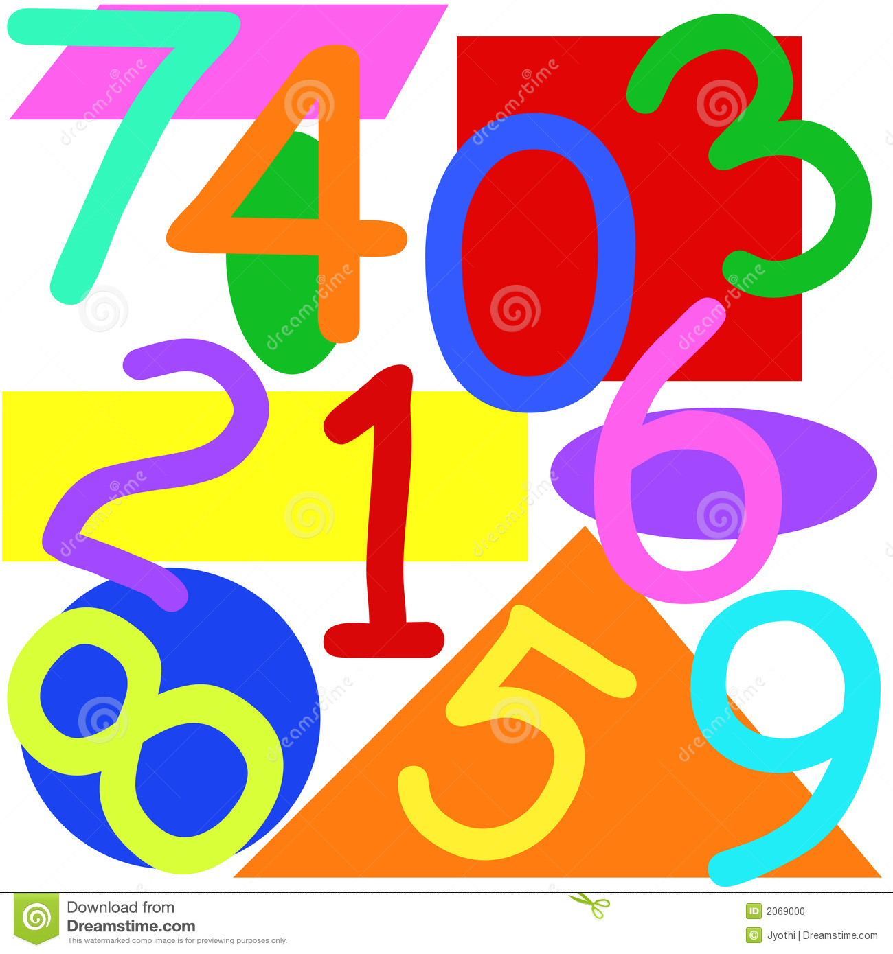 Numbers And Shapes Stock Photo