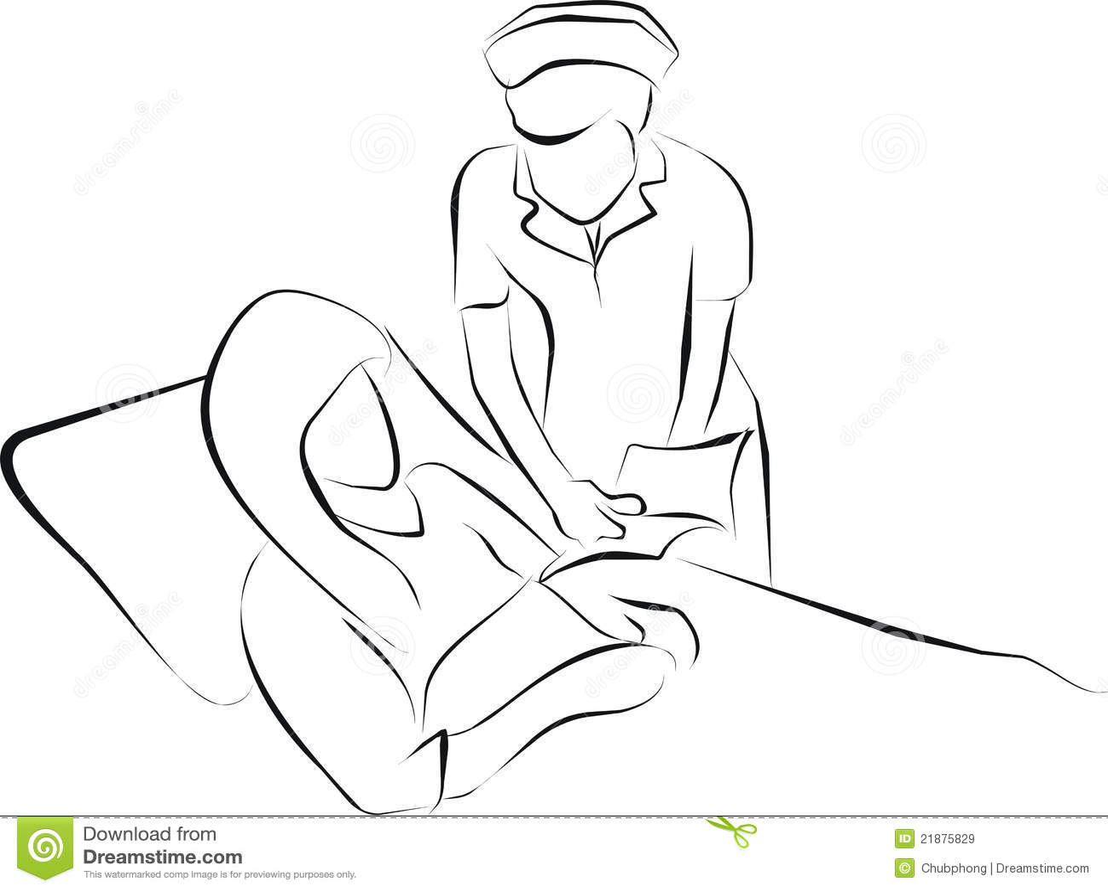 Nurse Care Patient Stock Illustration Illustration Of