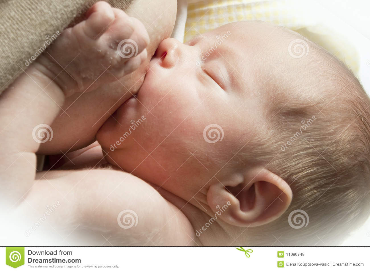 Nursing Baby Royalty Free Stock Photos