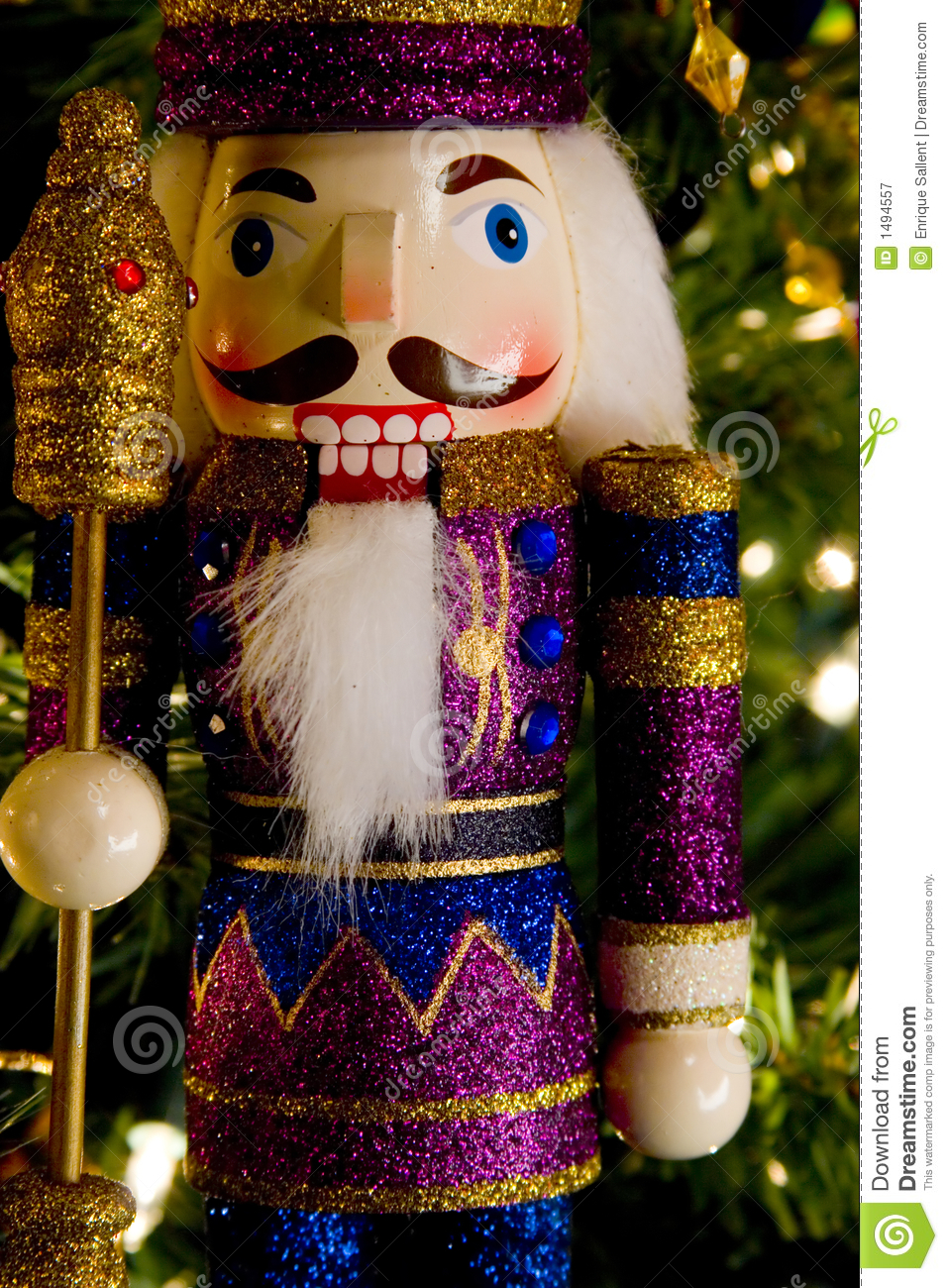 Nutcracker King Wood Toy Royalty Free Stock Photography
