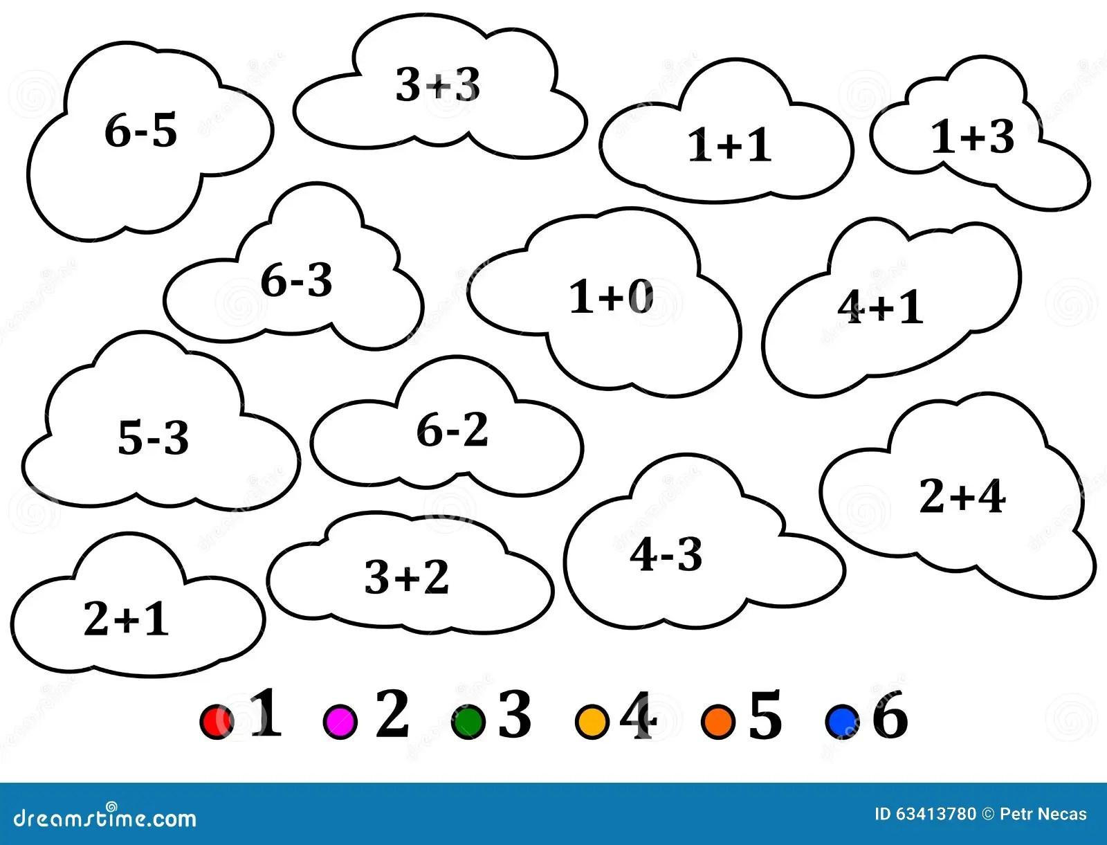 Nuvens Coloridas Como A Contagem Para Criancas