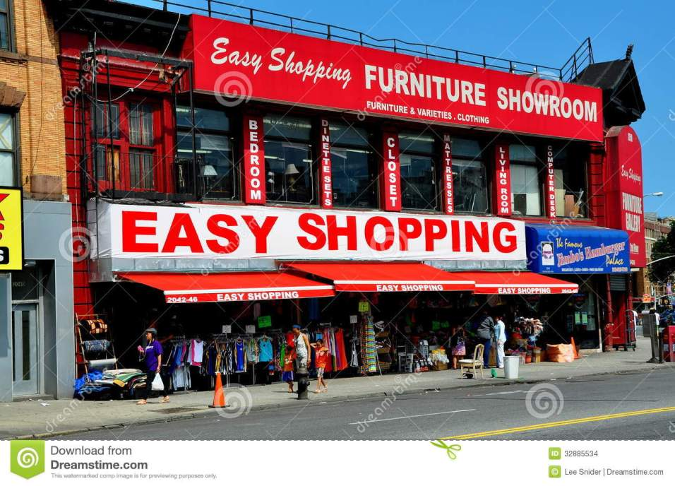 Nyc Furniture Store In Upper Harlem Editorial Stock Image