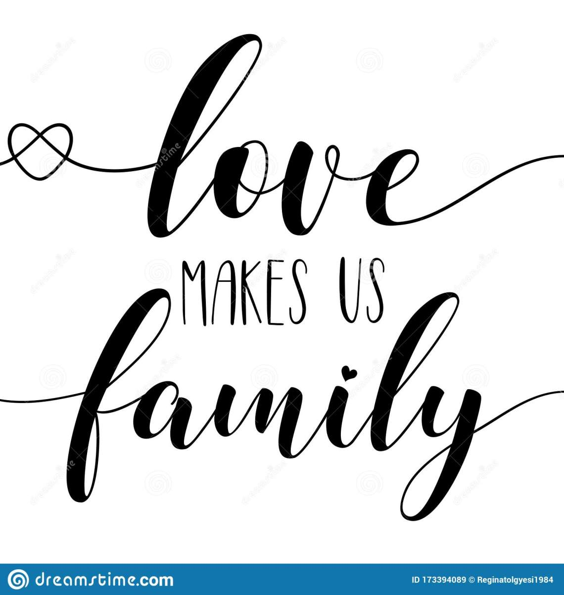 Download Love Makes Us Family- Calligraphy Stock Vector ...