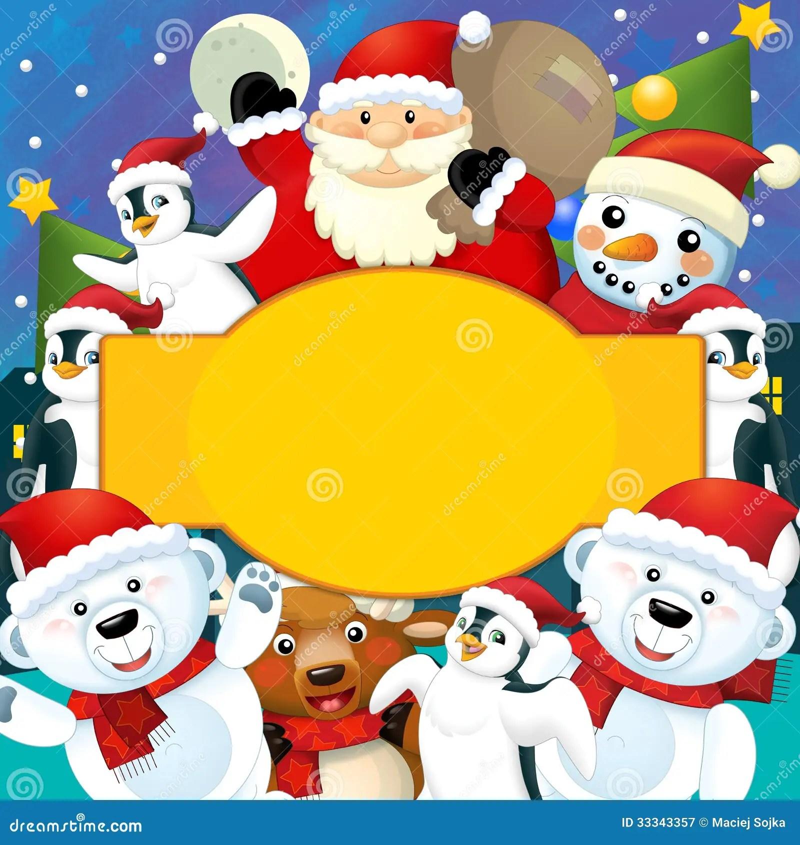 O Natal Colorido Carto Ilustrao Para As Crianas
