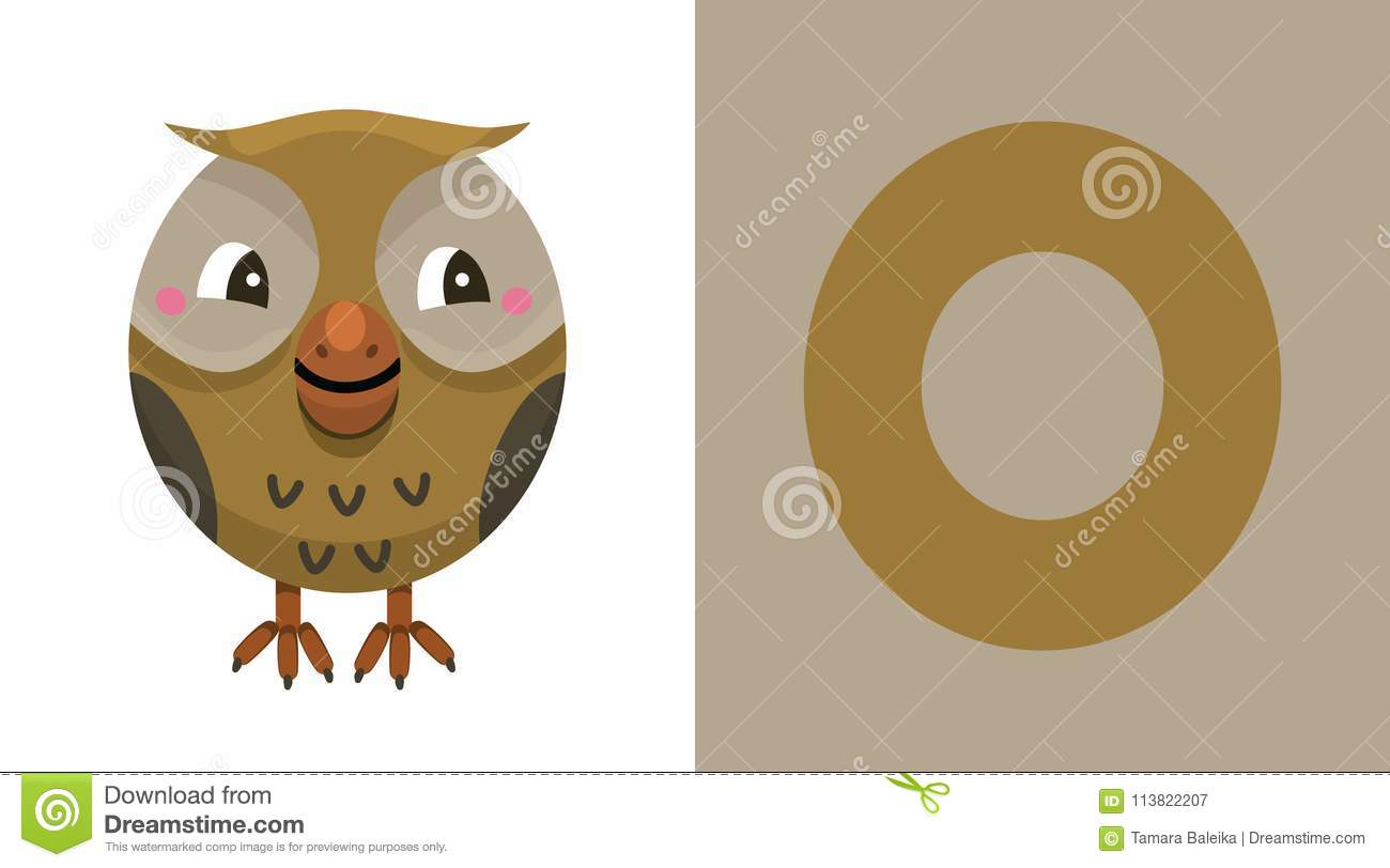 O Is For Owl Letter O Owl Cute Illustration Animal