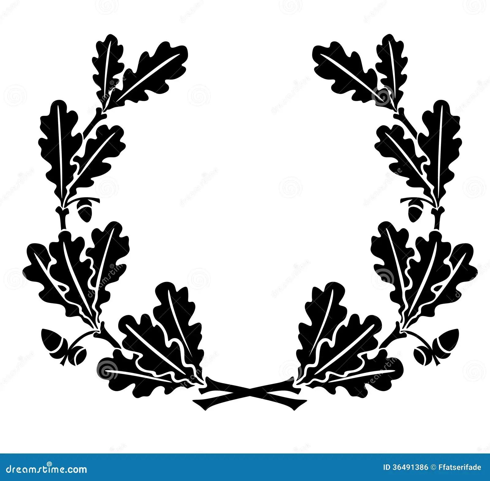 Oak Leaves Stock Illustration Illustration Of Winner