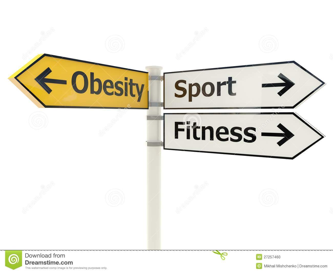 Obesity Road Sign Stock Photo