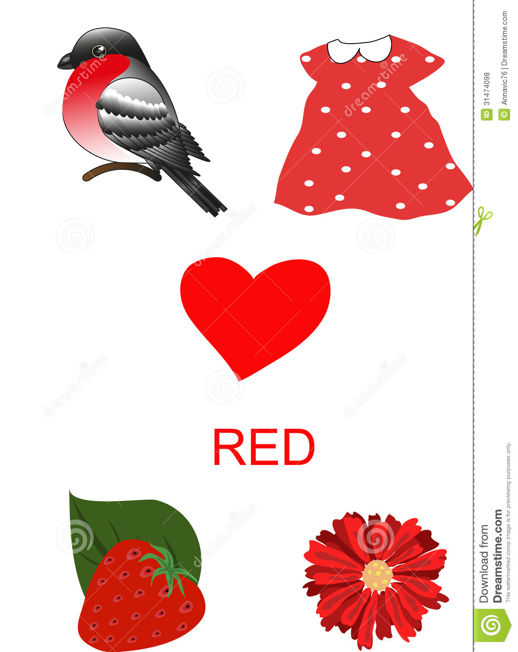 Objects Of Red Color Stock Photo Image Of Subject