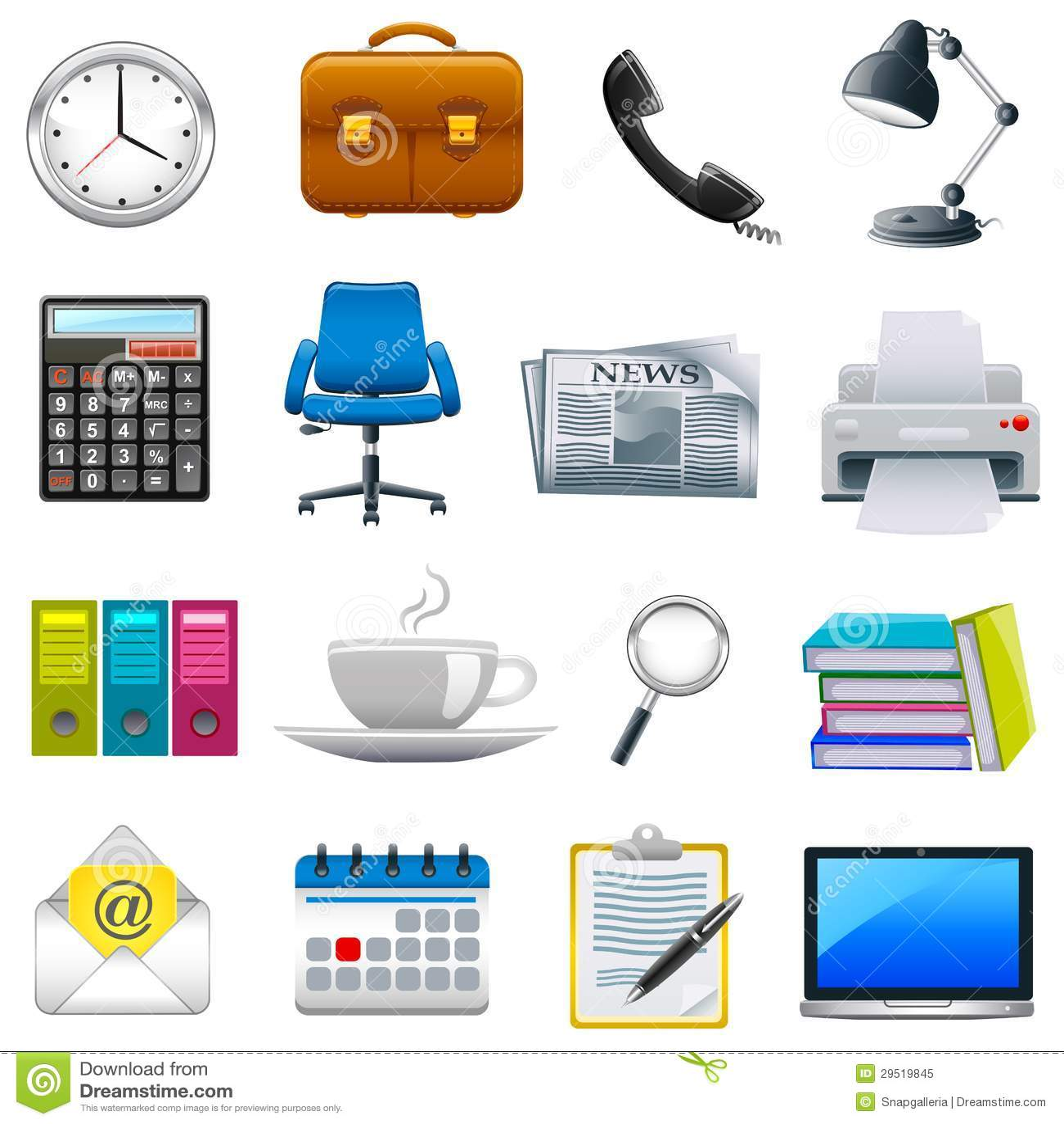 facile d editer l illustration de vecteur de l objet de bureau
