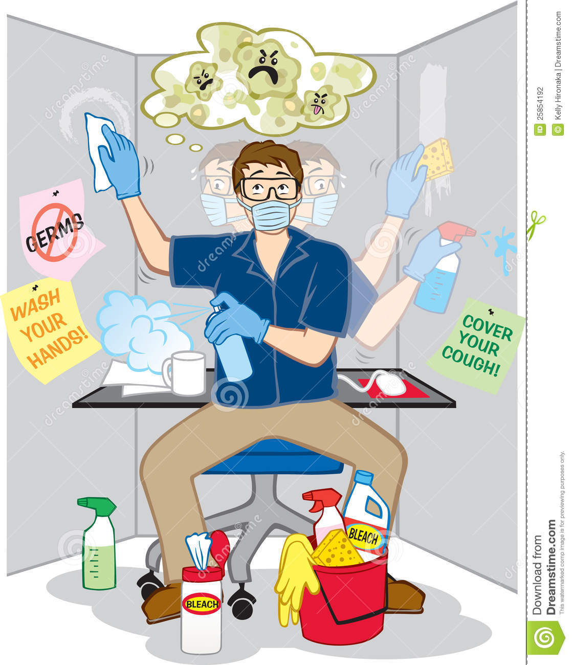 Obsessive Compulsive Fear Of Germs Stock Photography