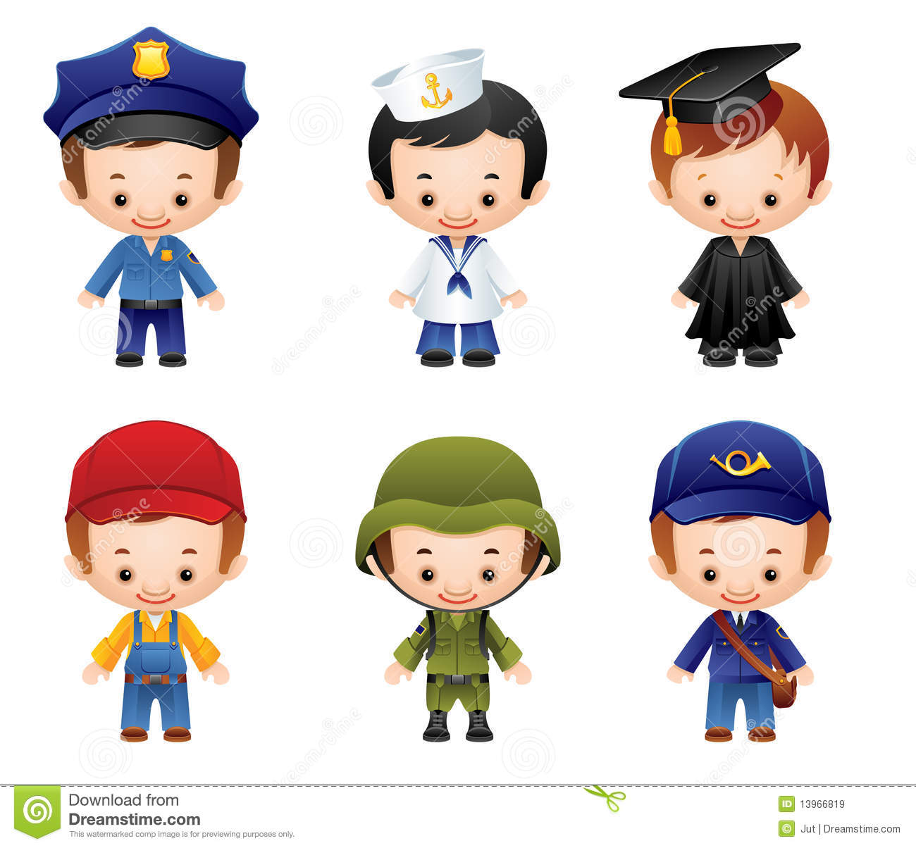 Occupation Icons Royalty Free Stock Images