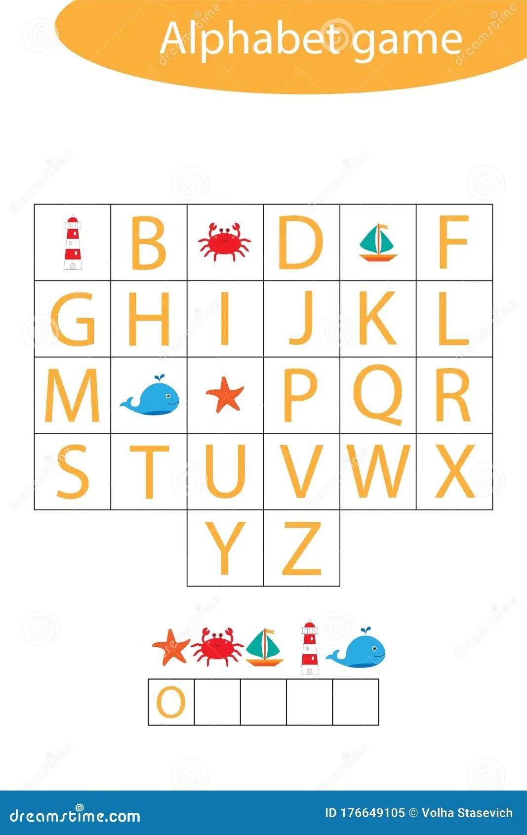 Ocean Nimals Alphabet Game For Children Make A Word