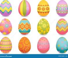 Idées de décoration variées et colorées pour des oeufs de pâques