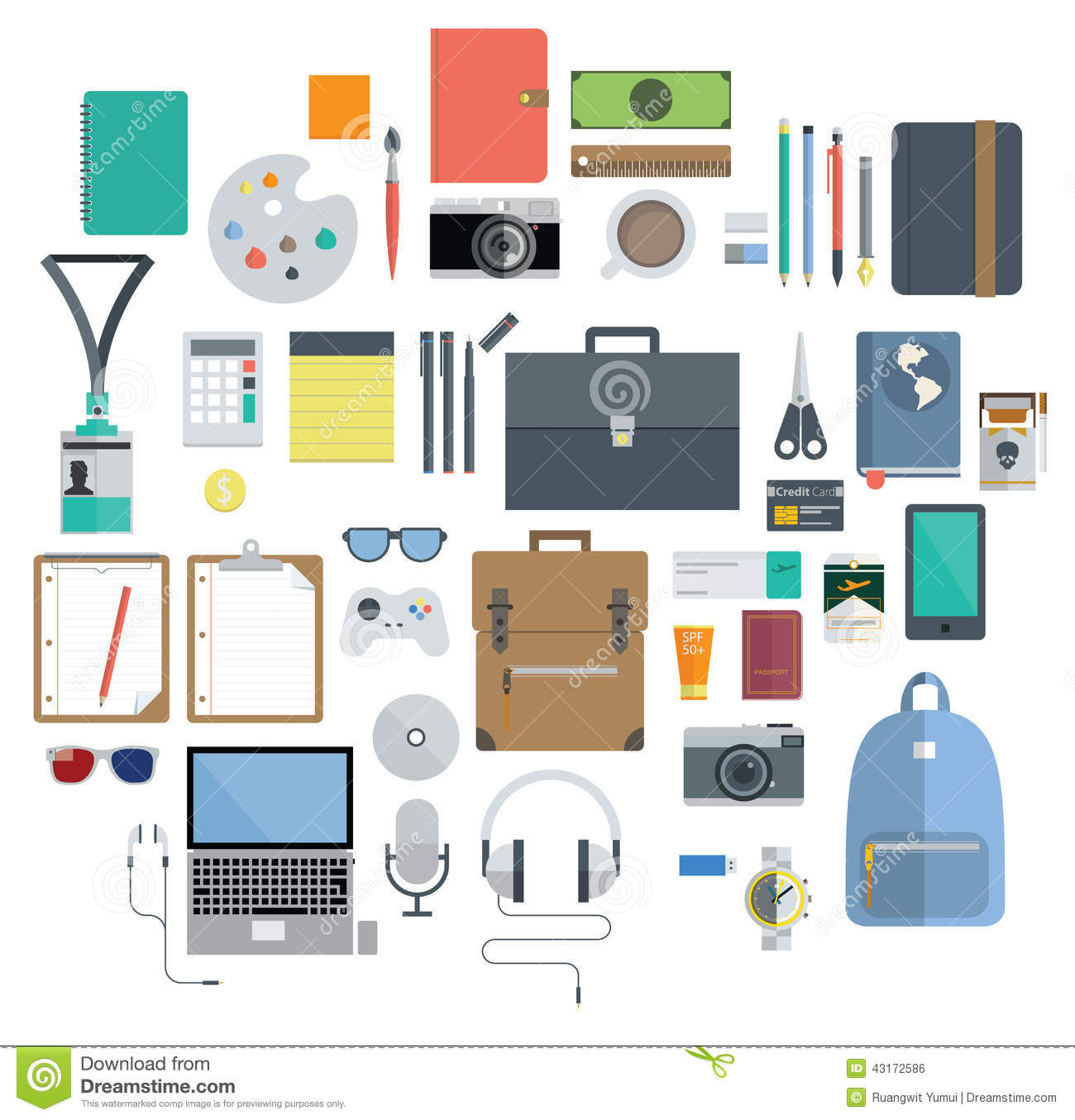Of Office Equipment Travel Gadget And Hobby Icon Stock