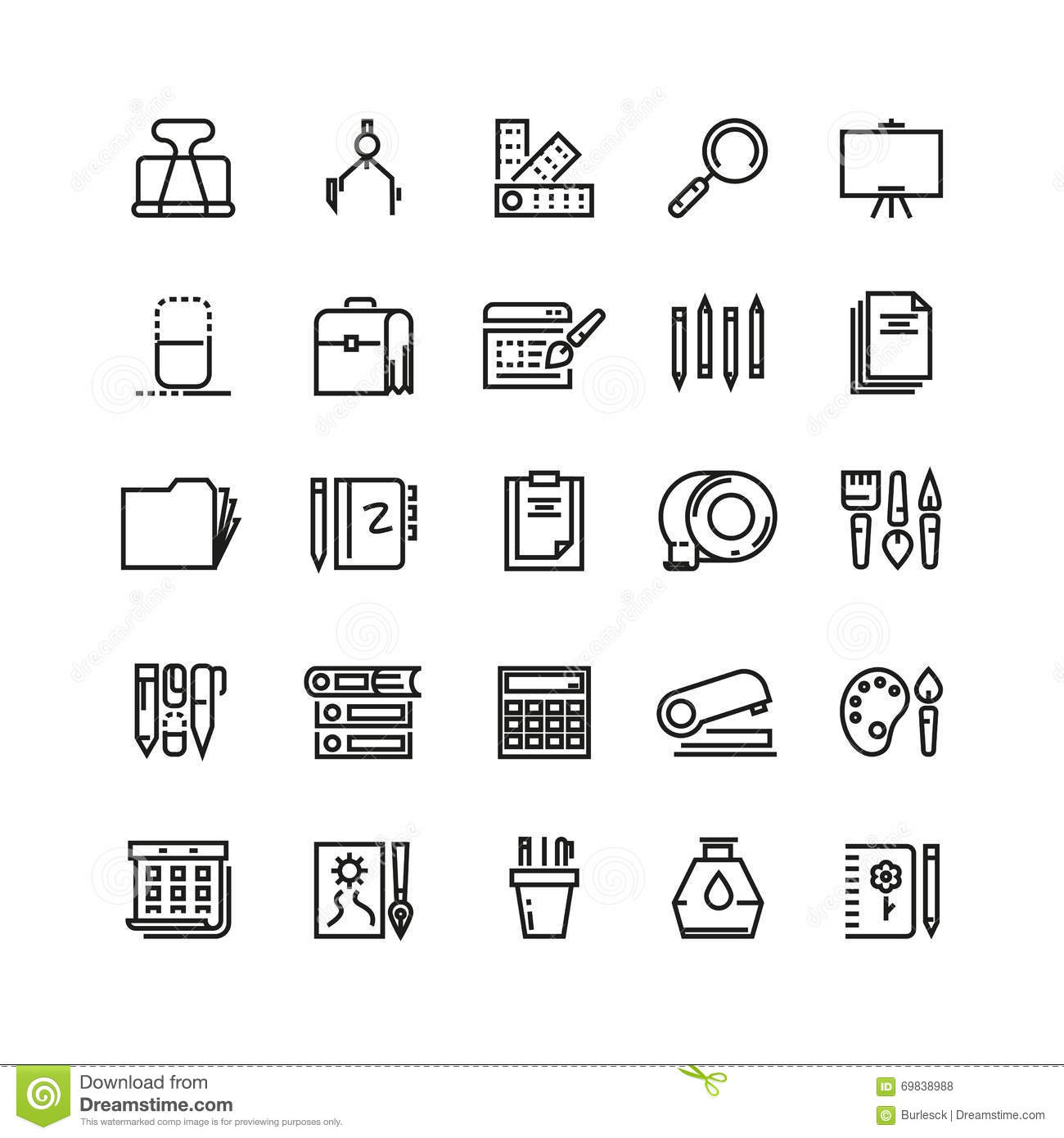 Office And Stationery Vector Icons 4 Stock Image