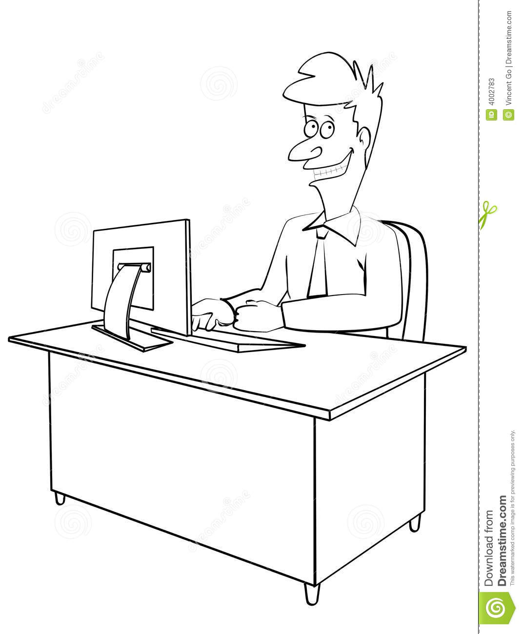Office Work Stock Illustration Illustration Of Graphic