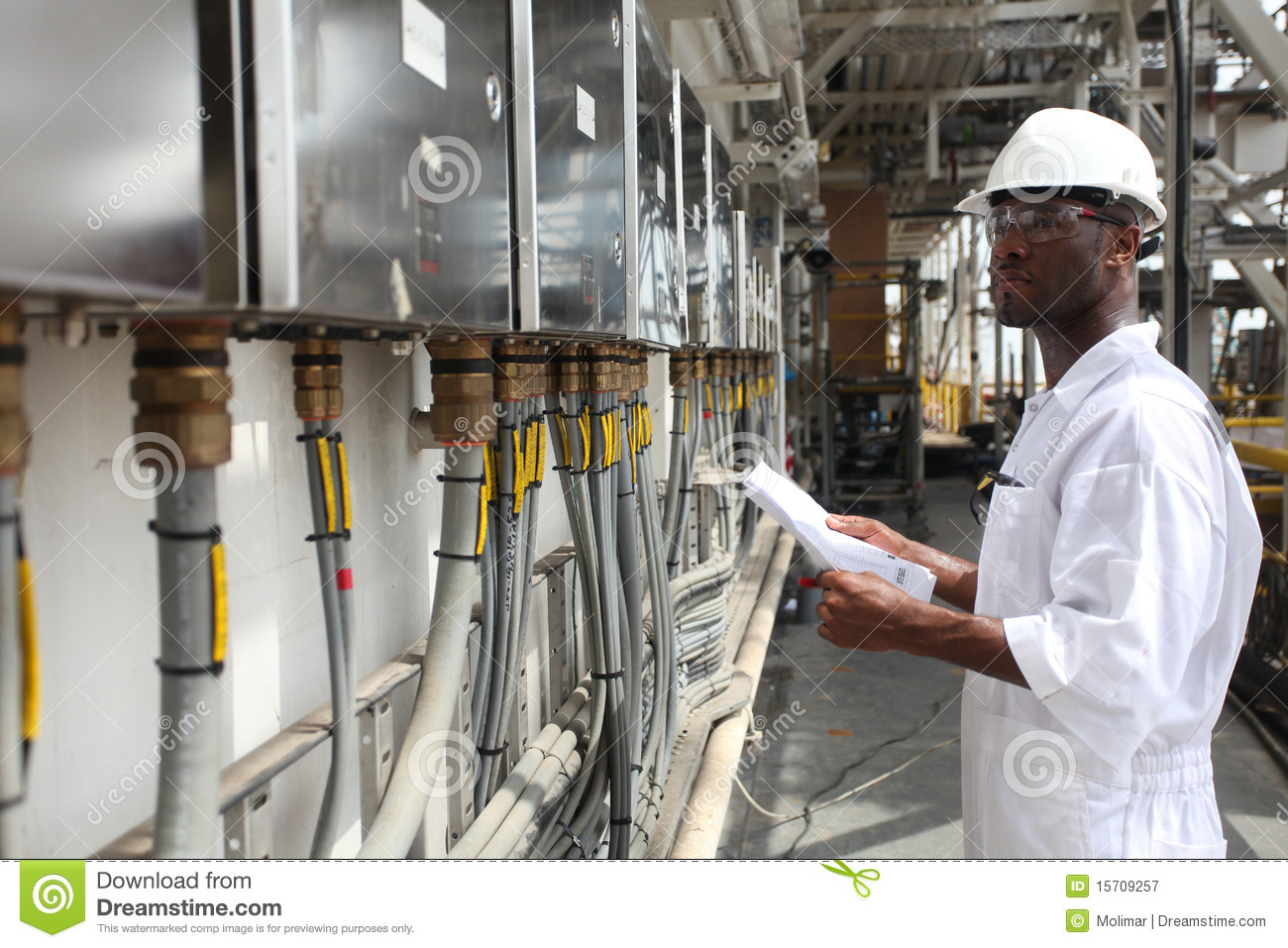 Oil Amp Gas Electrical Engineer Stock Image
