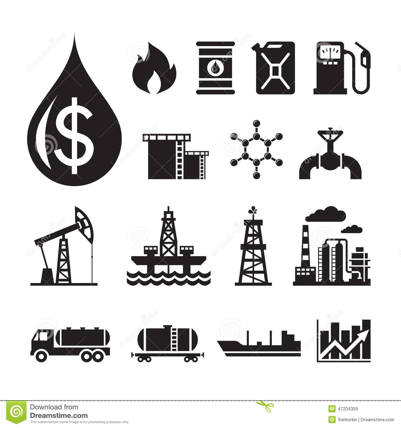 16 Oil Industry Vector Icons For Infographic Business