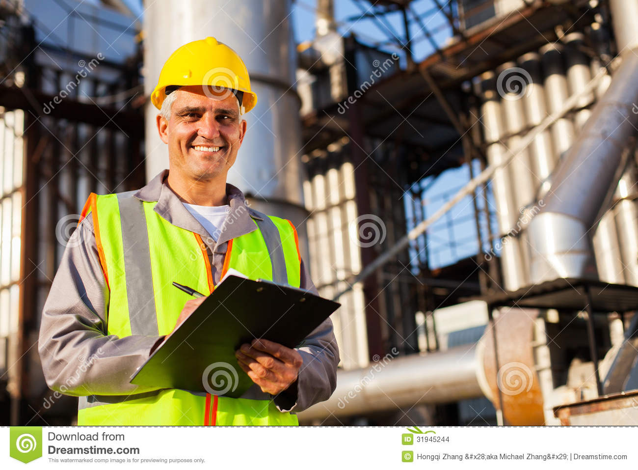 Oil Industry Worker Stock Photo Image Of Industry Heavy