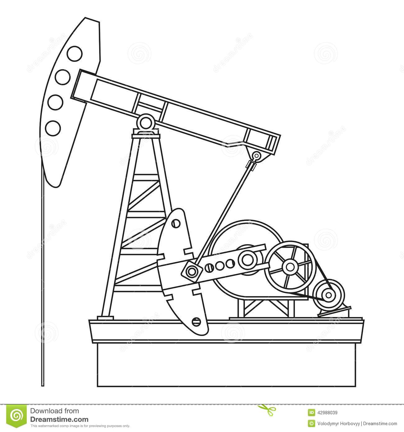 Oil Pump Stock Vector Illustration Of Fuel Business