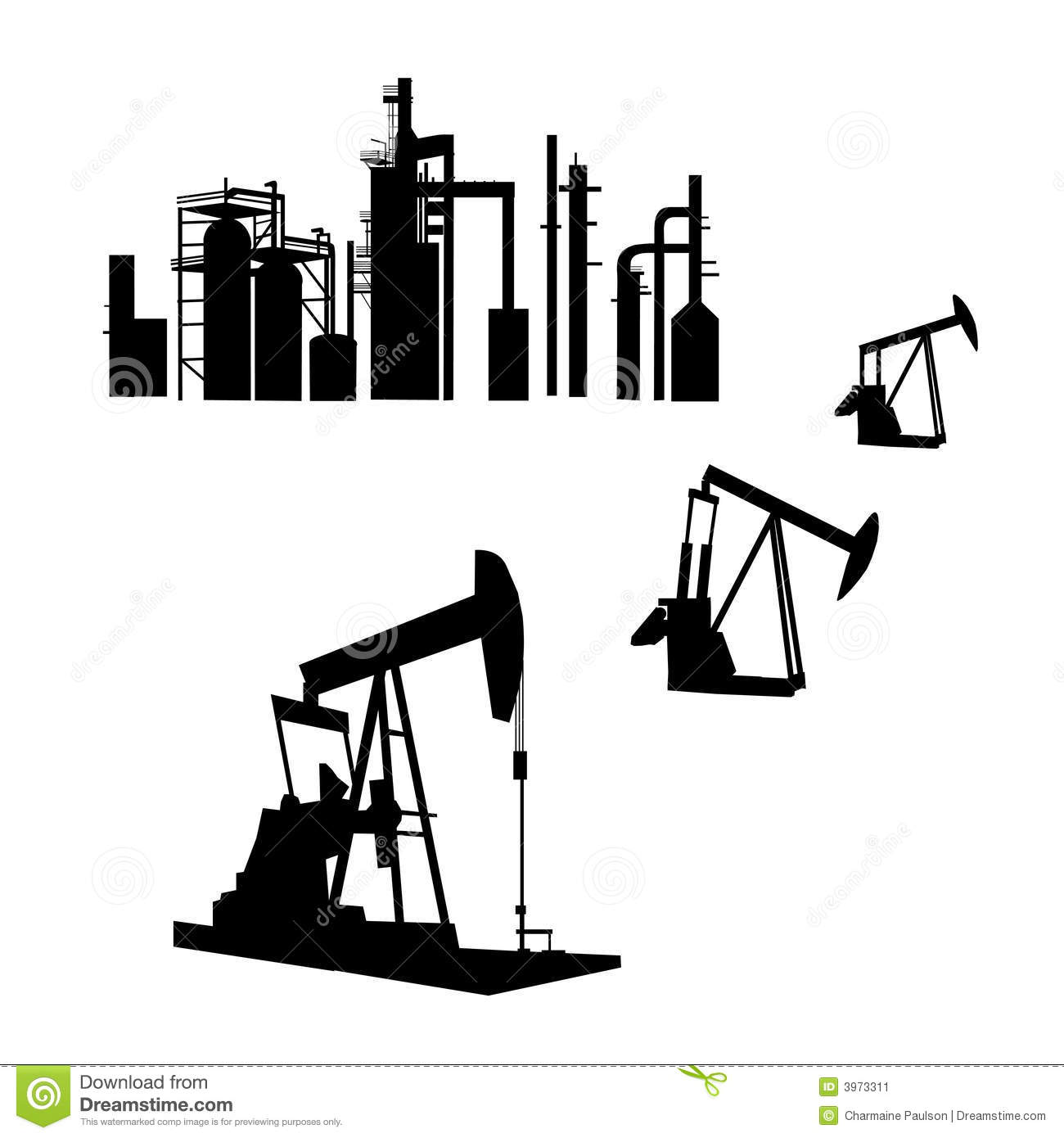 Oil Refinery Stock Vector Illustration Of Industry
