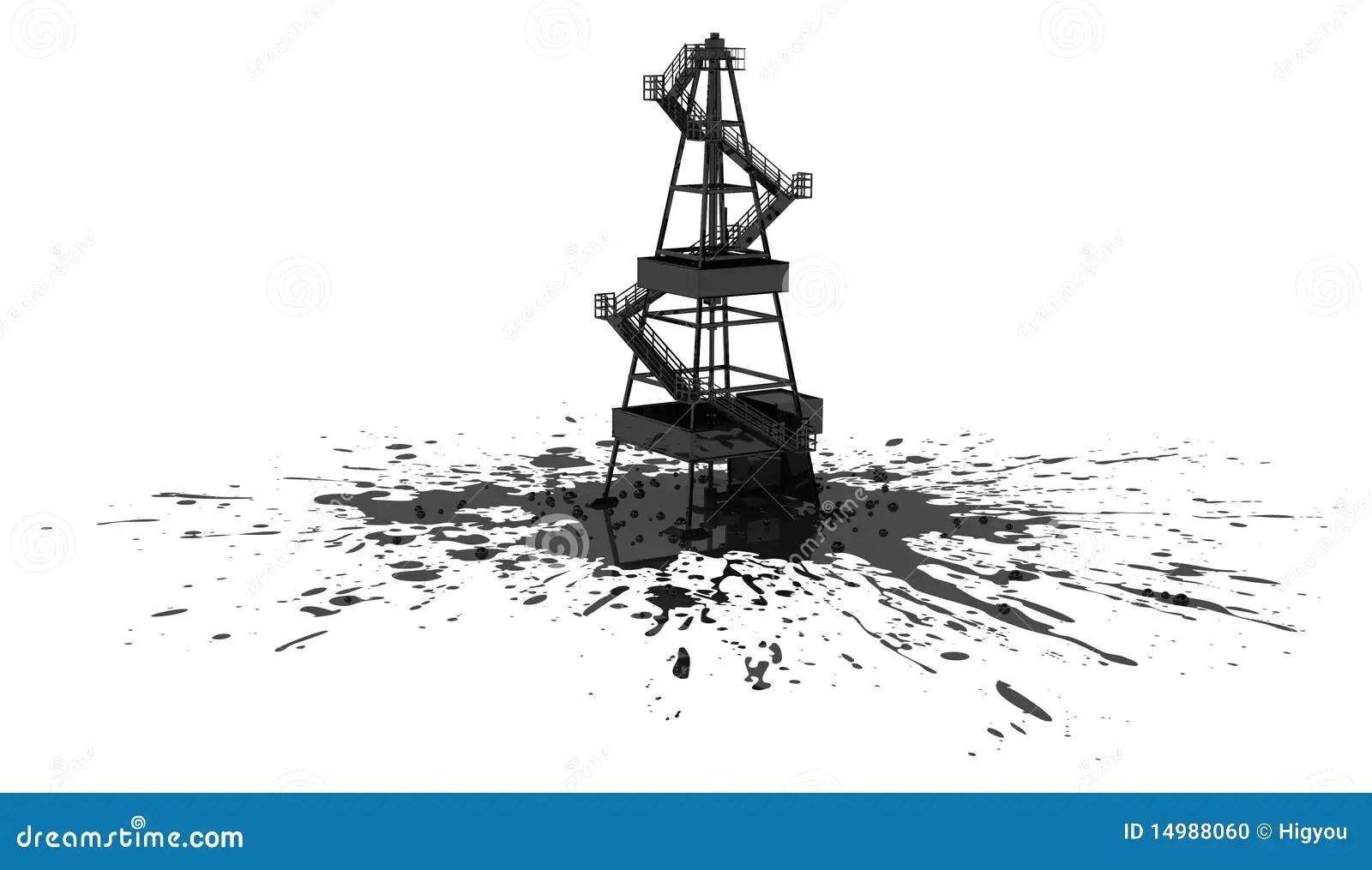 Oil Rig Spill Stock Illustration Illustration Of