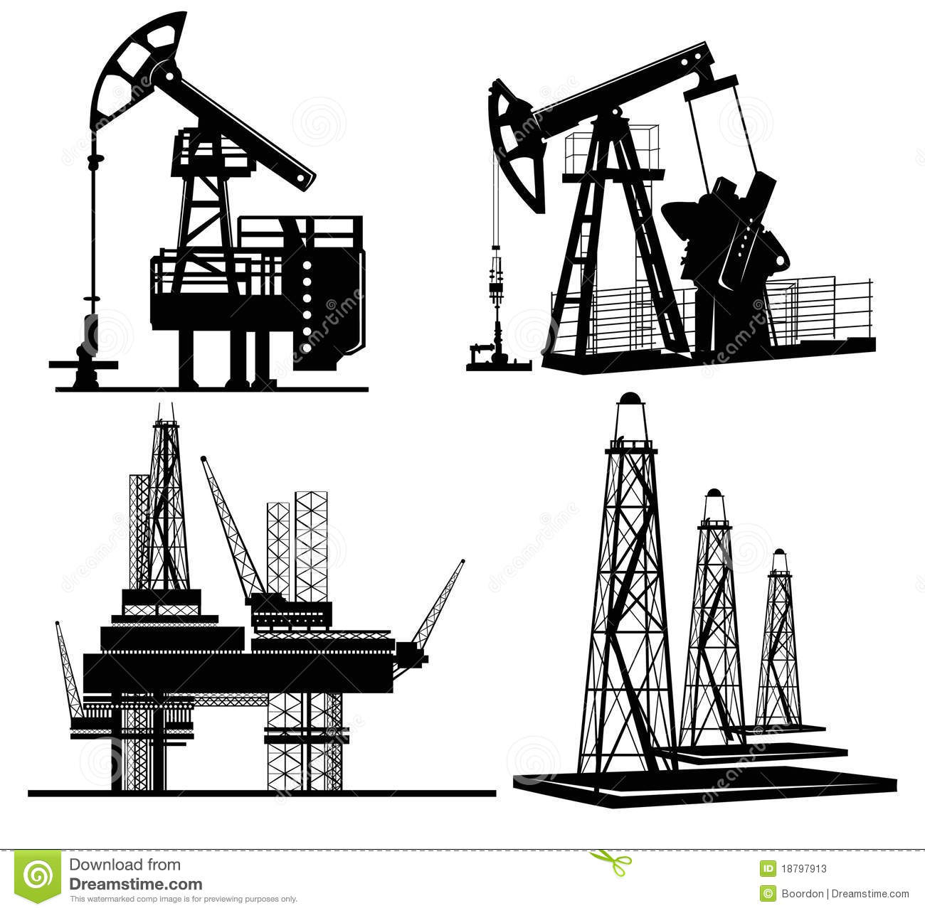 Oil Silhouette Hand Drawn Stock Vector Illustration Of