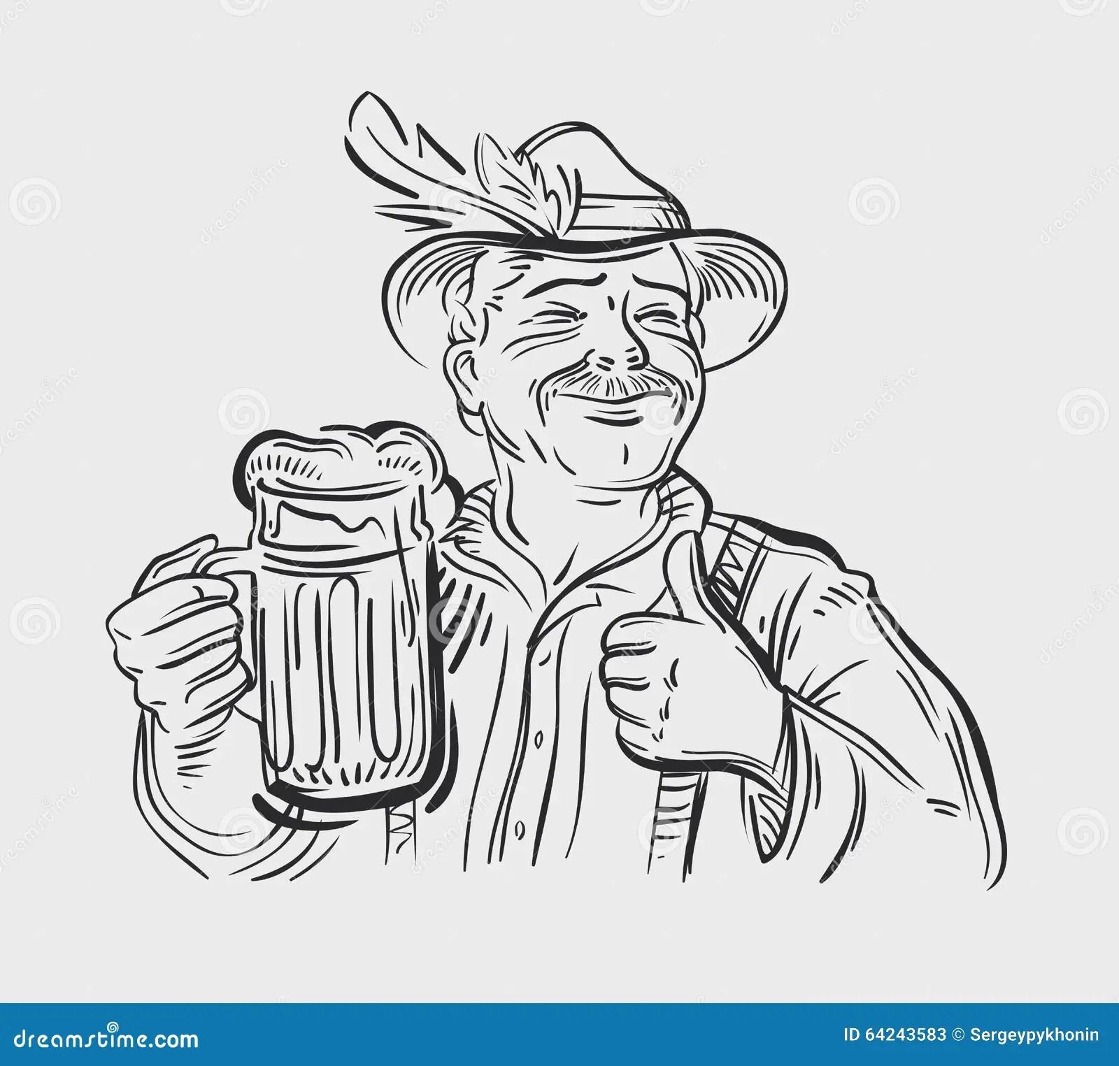 Oktoberfest Vector Logo Design Template Beer Ale Stock