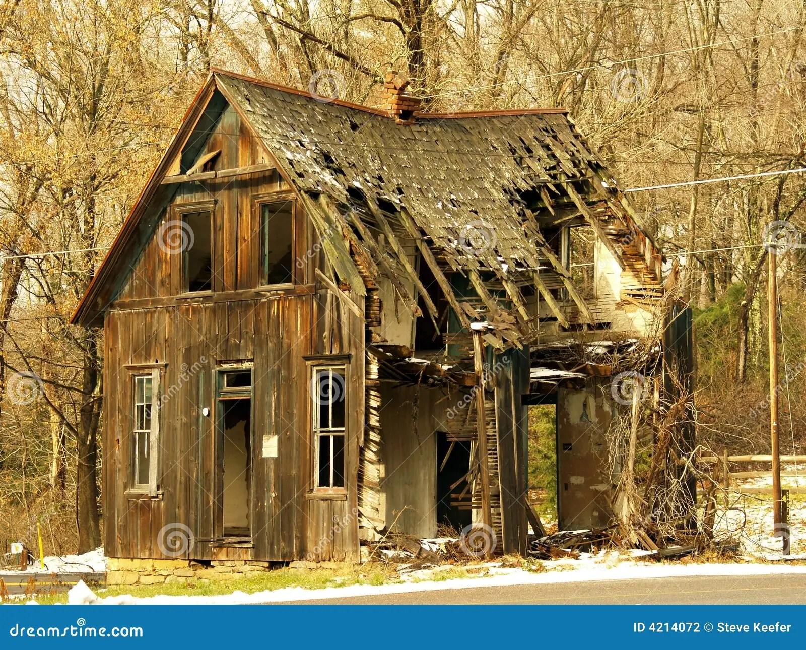 Old Abandoned Shack Stock Photo Image Of Shingle Roof