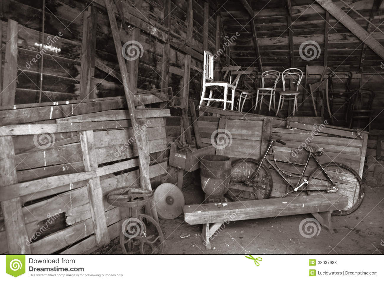 Old Barn Interior Royalty Free Stock Photos Image 38037988