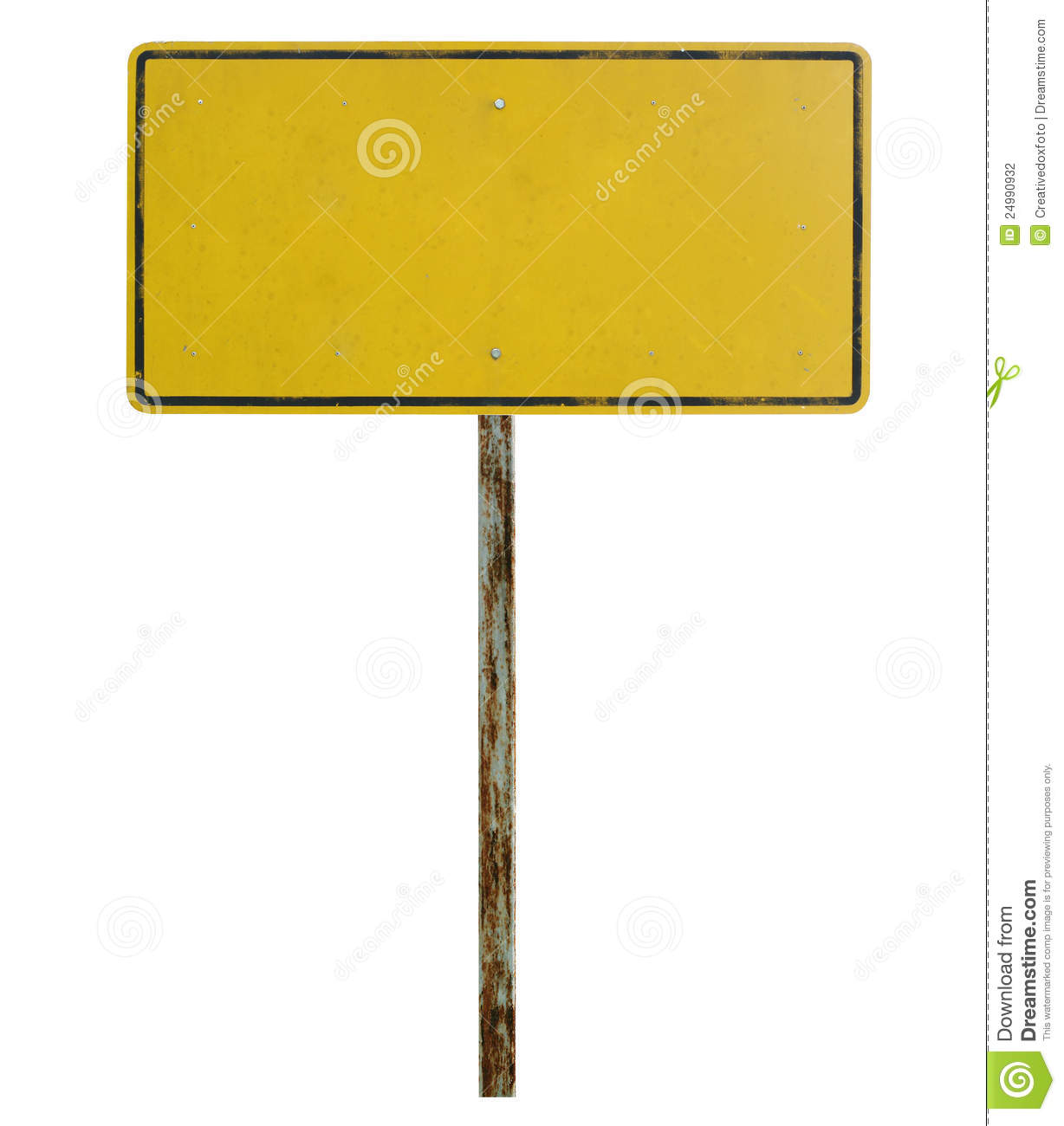 Old Blank Traffic Sign Stock Photo Image Of Dirty Metal