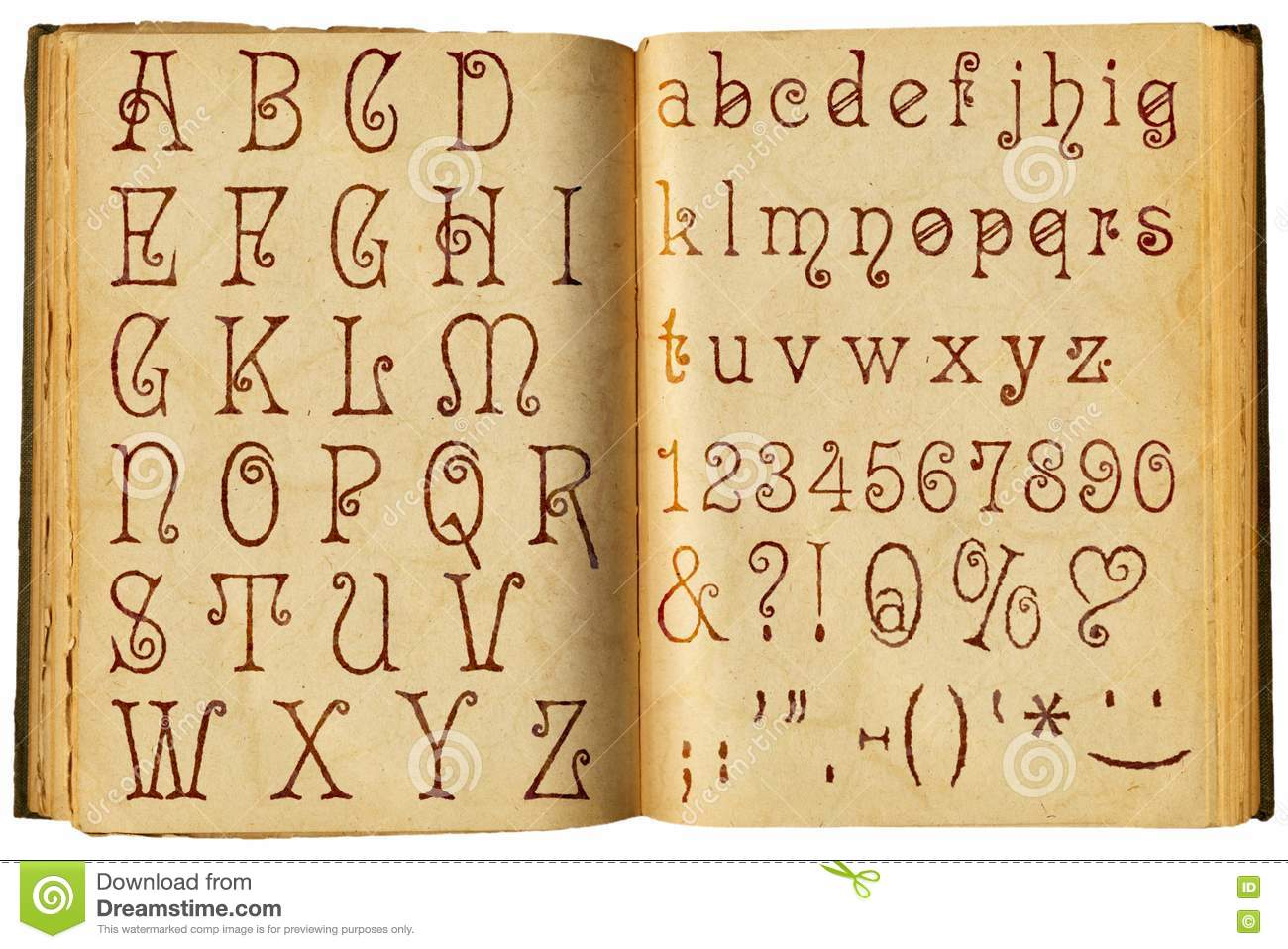 english alphabet old font