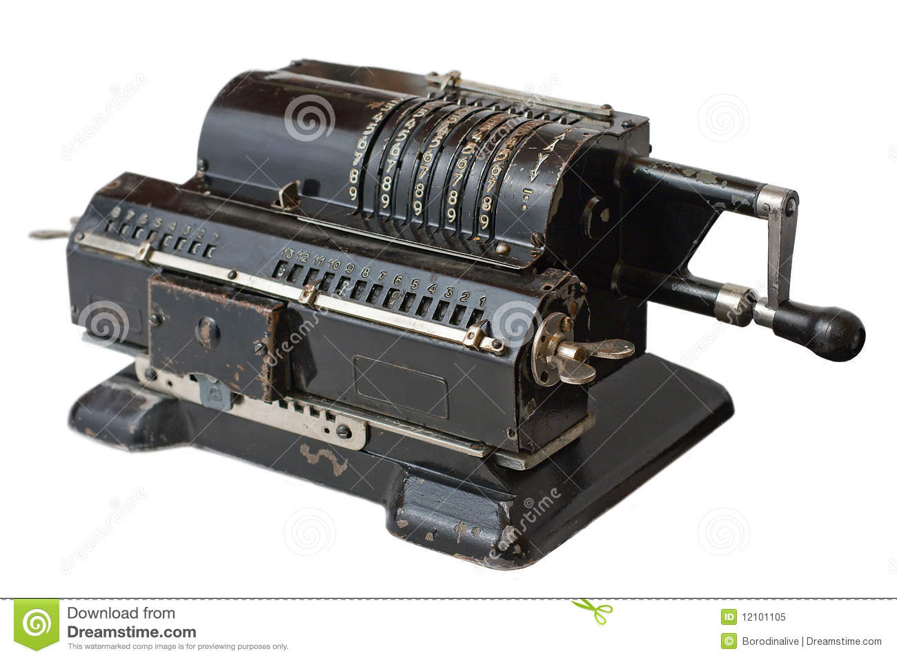 Old Calculating Machine Royalty Free Stock Photo Image