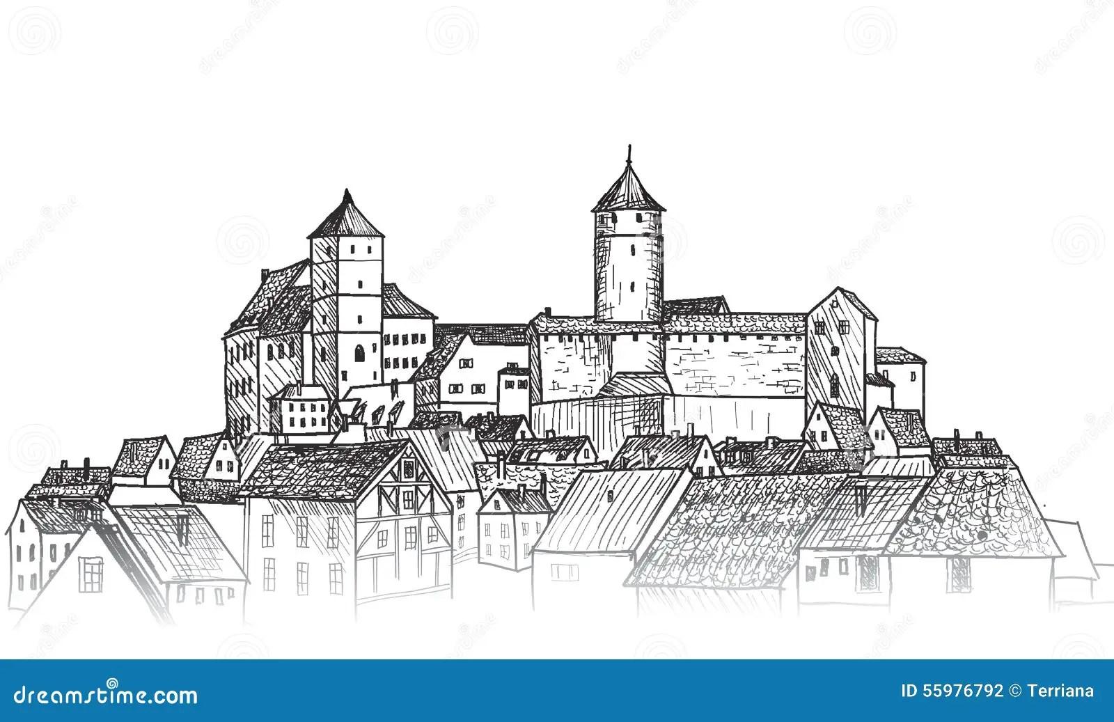 Old City Downtown View Me Val European Castle