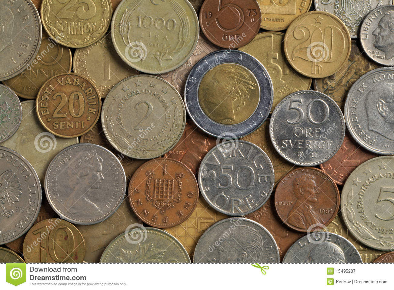 Old Coins Stock Image Image Of Hobby Sent Salary Business