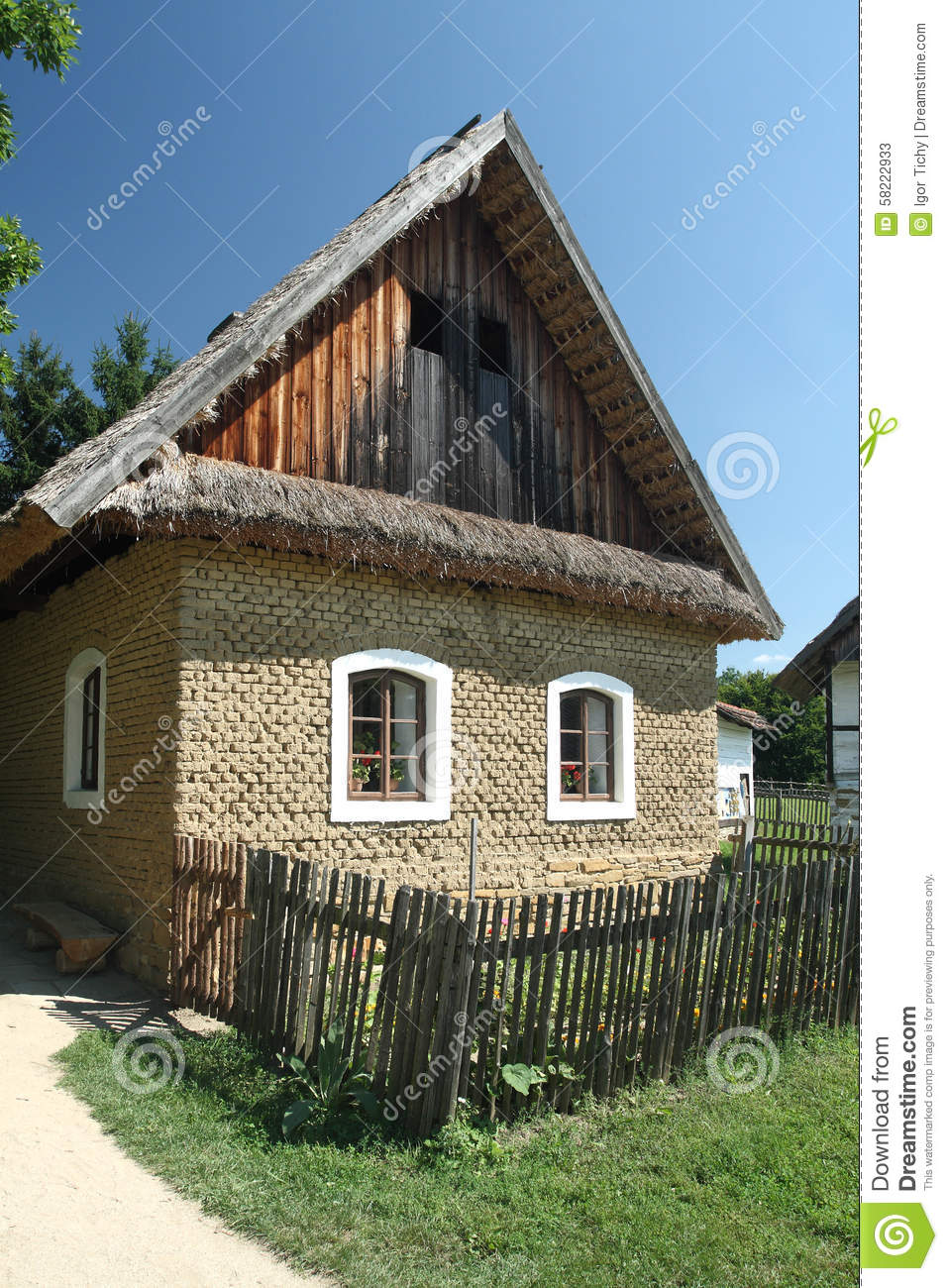 Old Country House Made Of Mud Bricks Stock Image Image Of Museum Picket 58222933