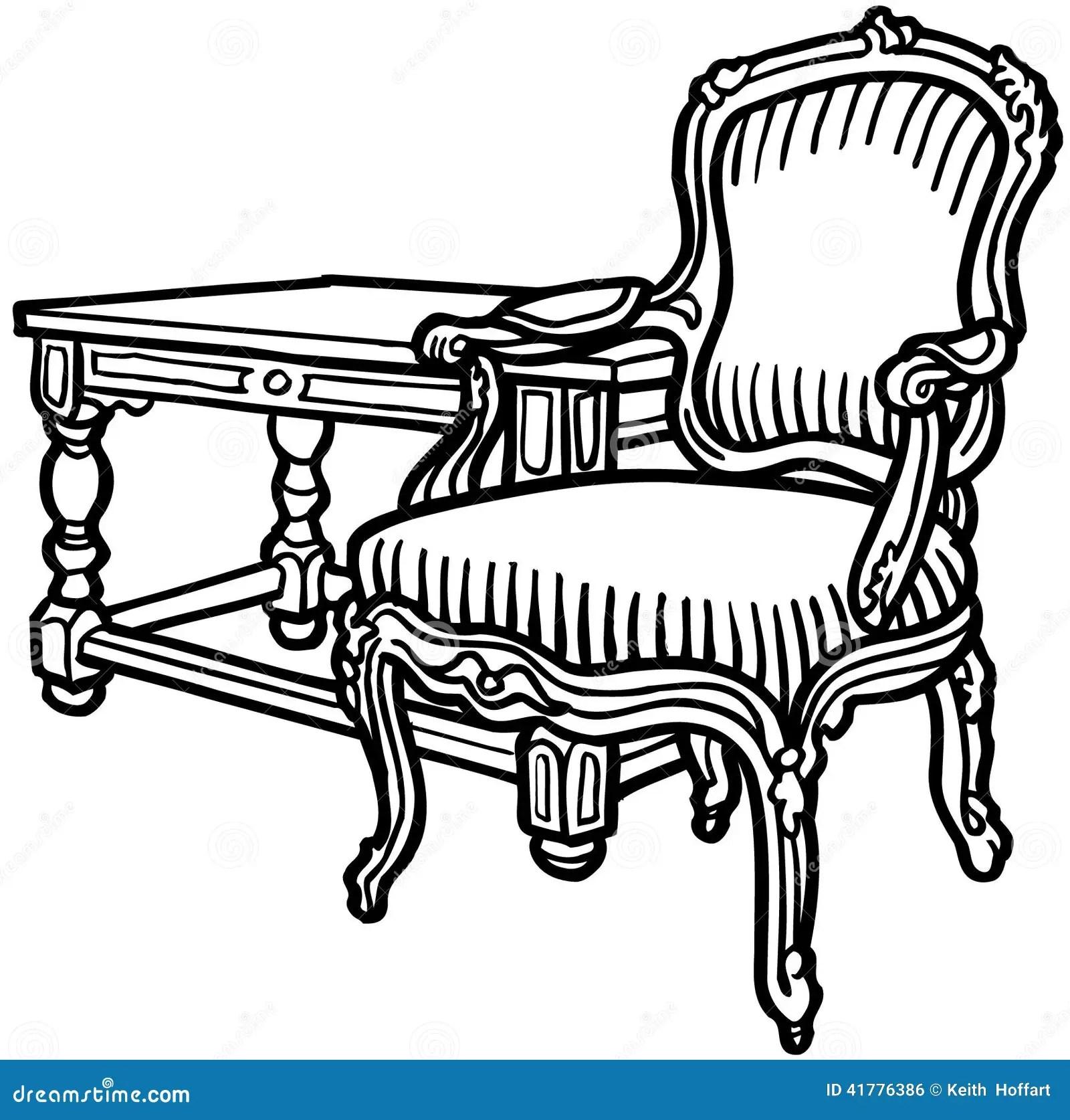 Old Elegant Chair Cartoon Vector Clipart Stock Vector
