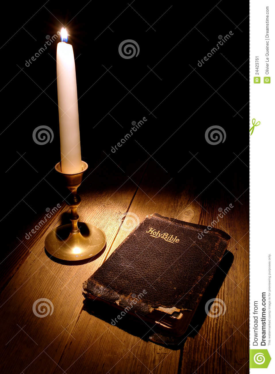 Lit Candle Candlestick