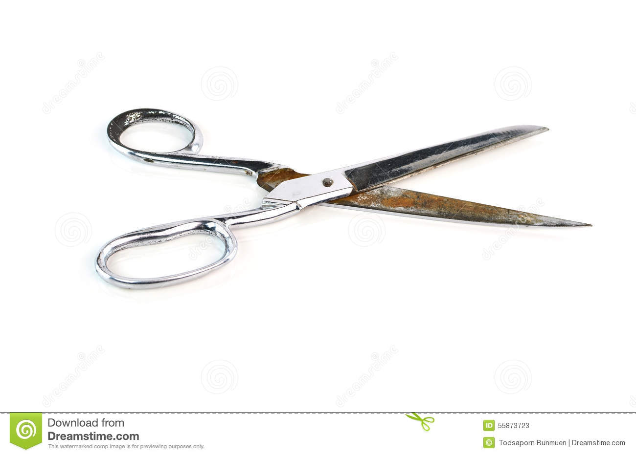 Green Scissors Isolated On A White Background Royalty Free