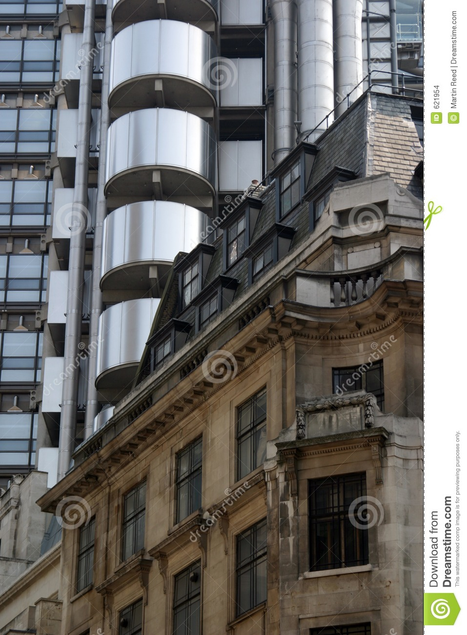 Old And New Architecture In The City Of London Stock Photo