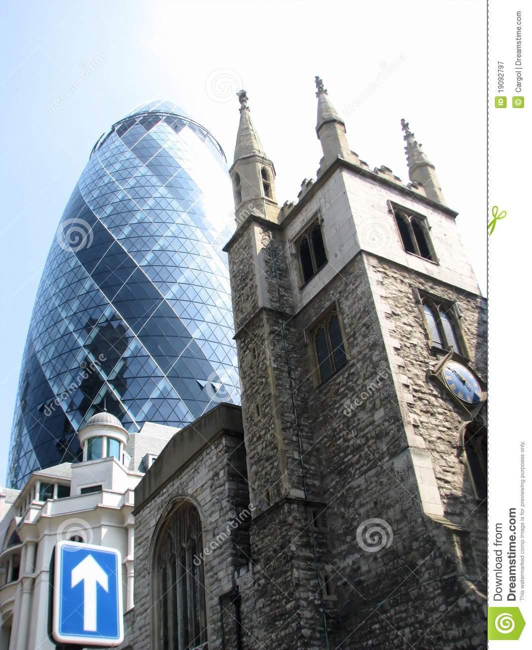 Old And New Architecture In London Stock Image Image Of