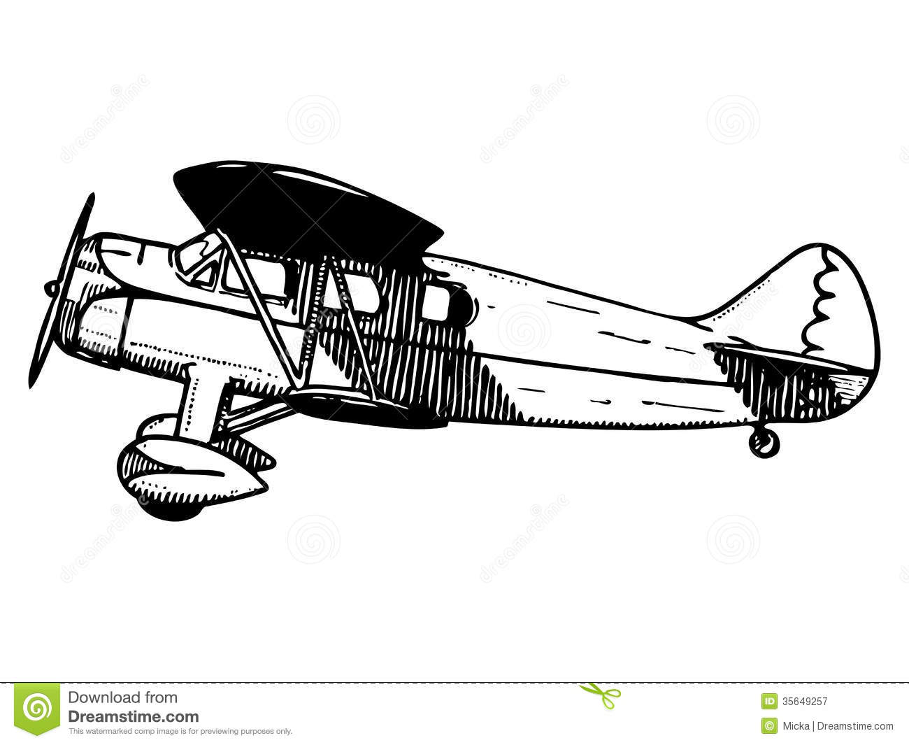 Old Passenger Plane Stock Vector Illustration Of Airplane