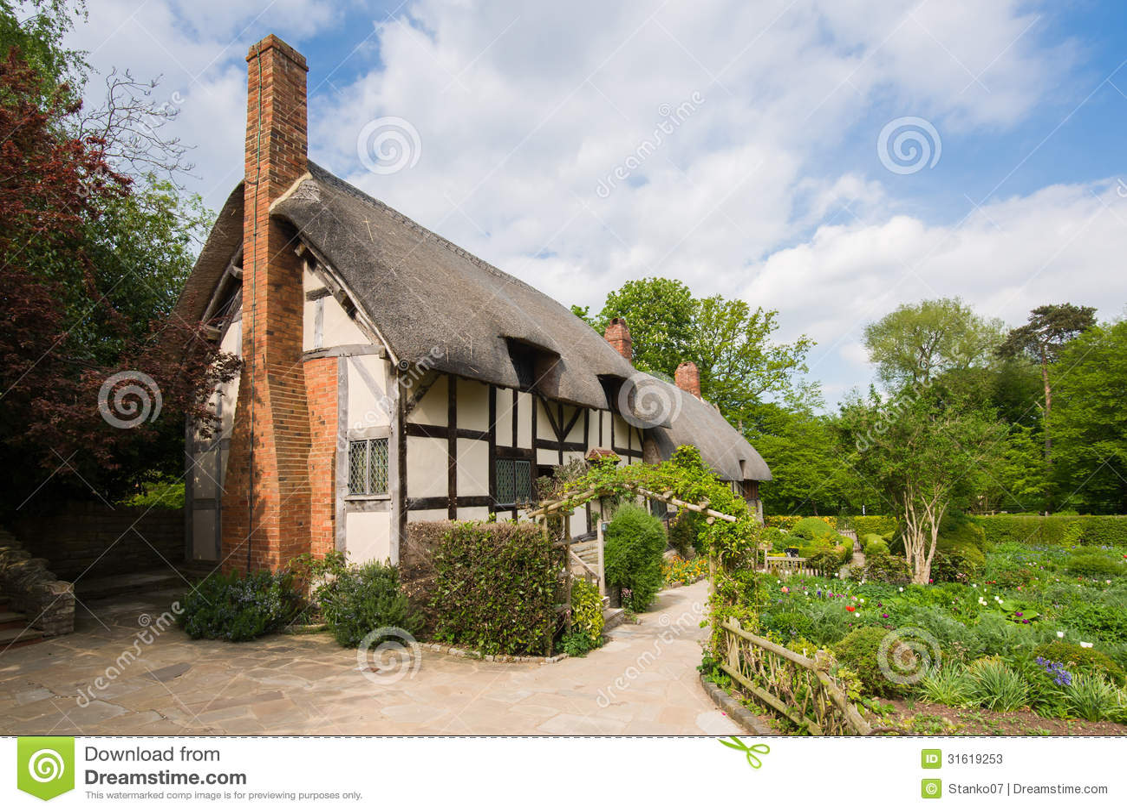 Old Rural English Cottage Stock Image Image Of