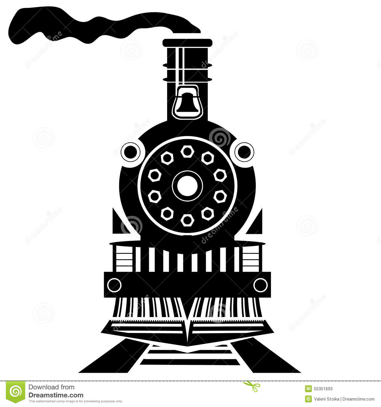 Old Train Stock Vector Image Of Locomotive Illustration
