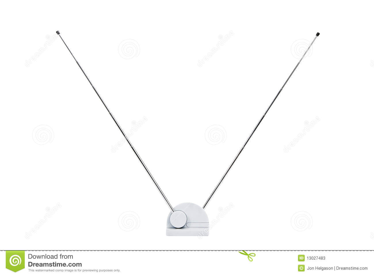 Old Tv Antenna Isolated Stock Image Image Of Retro Broadcast