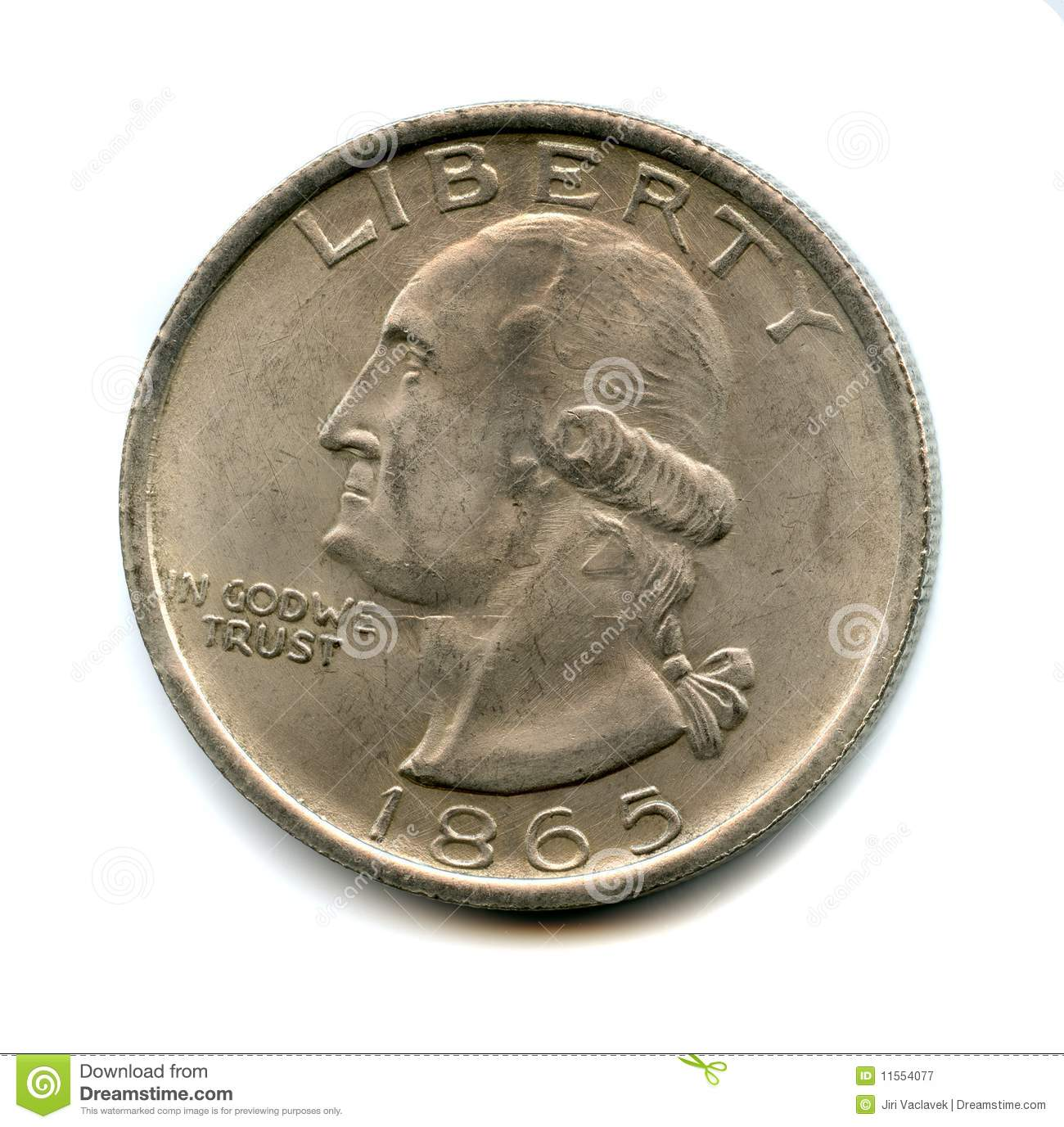 Old Usa Coin Royalty Free Stock Photography