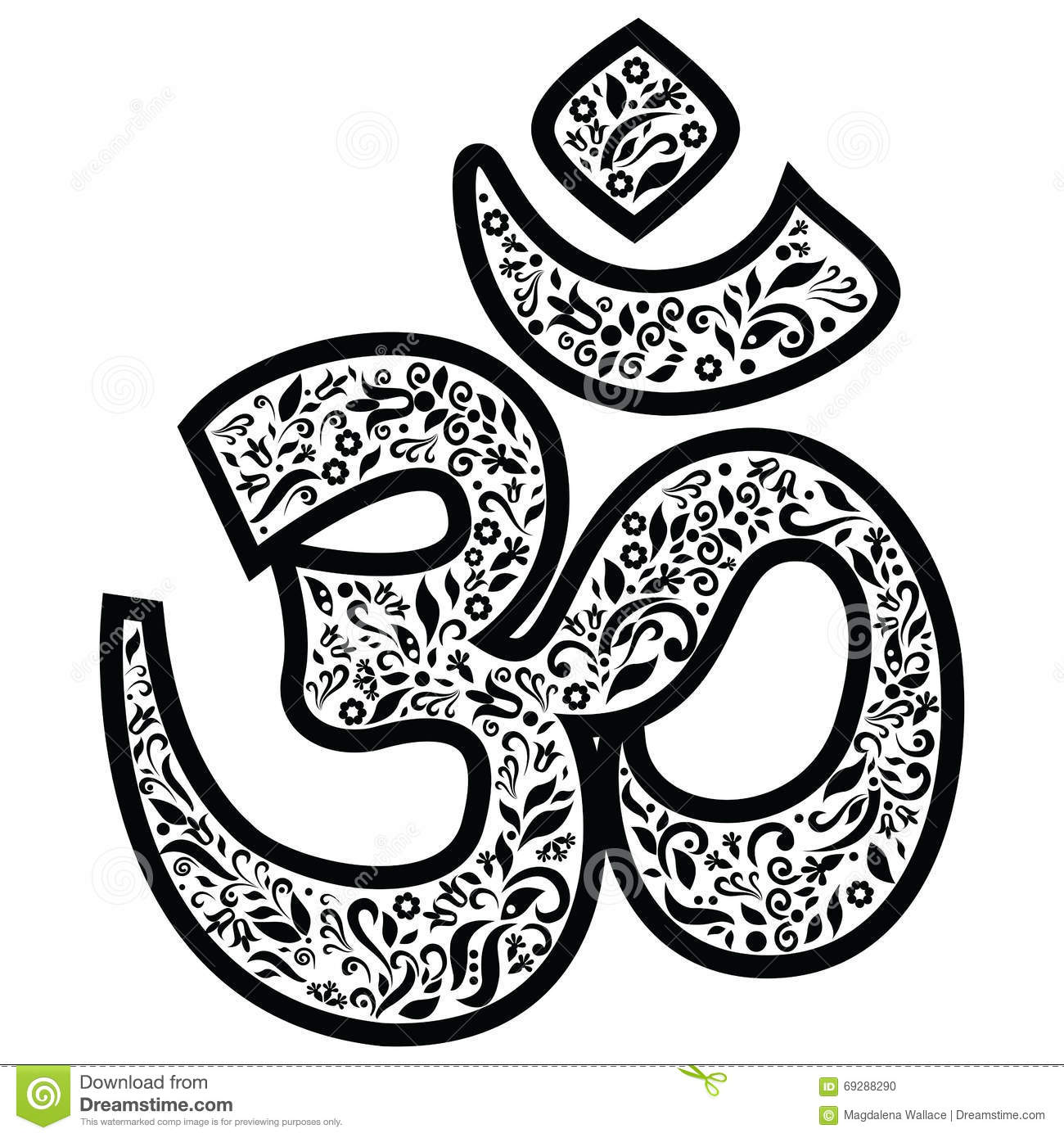 Om Sign Representing God Creation And The Oneness Of All